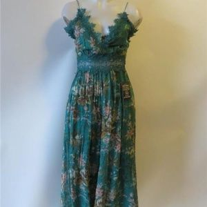 NWT ZIMMERMAN GREEN FLORAL JUMPSUIT ROMPER 1/SMALL